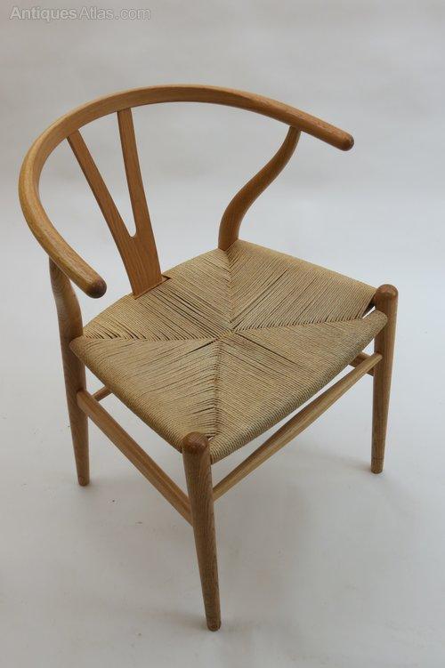 antiques atlas hans wegner wishbone chair in oak