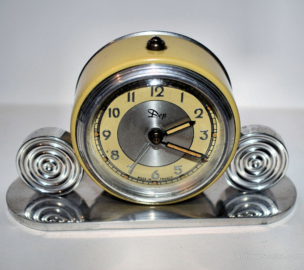 Antiques atlas art deco miniature alarm clock by dep Art deco alarm clocks
