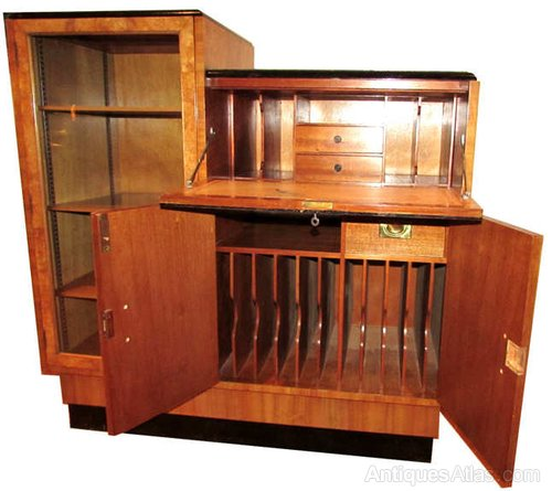 art deco burr walnut bureau antiques atlas. Black Bedroom Furniture Sets. Home Design Ideas