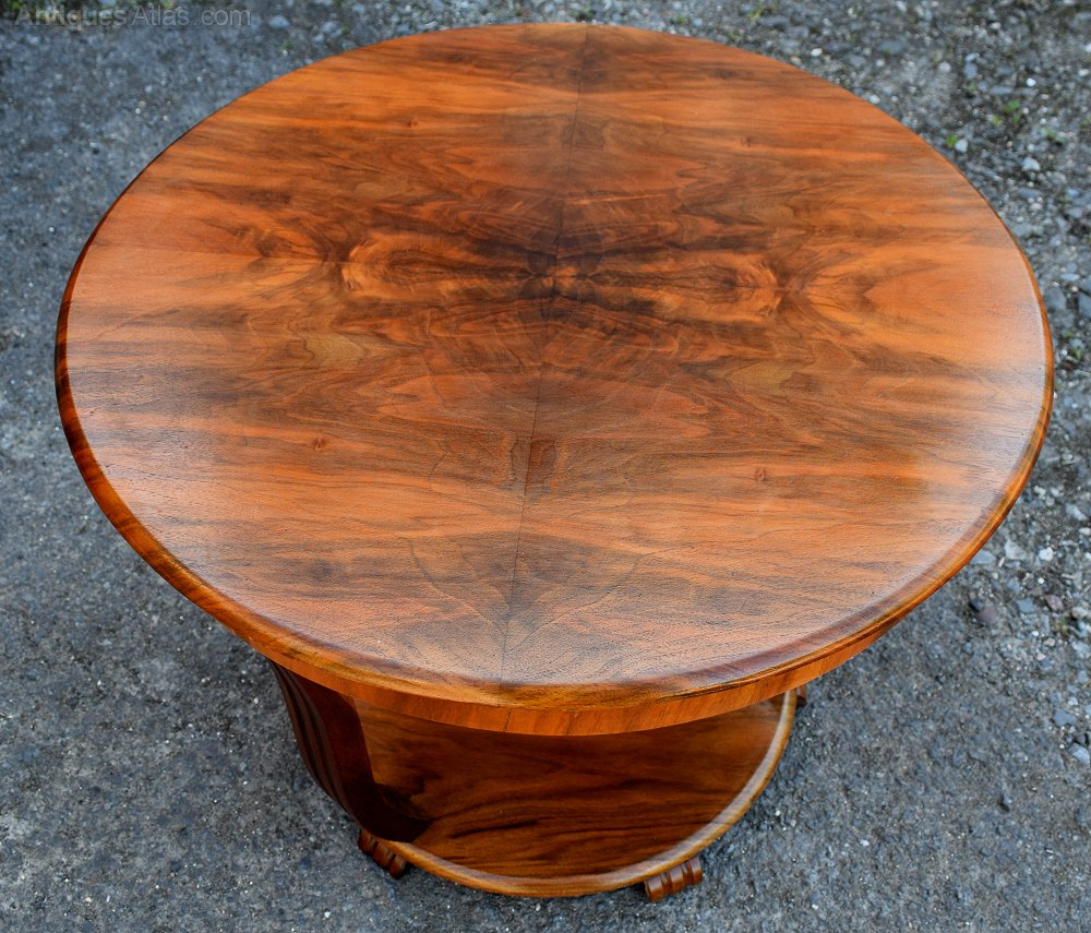 Art Deco Coffee Table In Figured Walnut Antique Coffee Tables ...