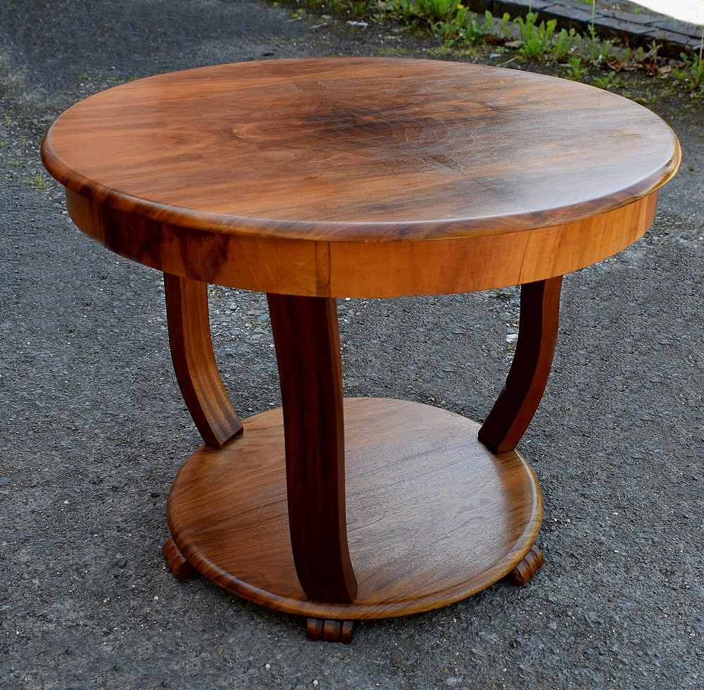 Art Deco Coffee Table In Figured Walnut