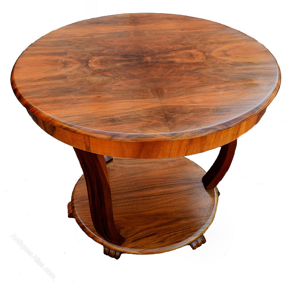 Art Deco Coffee Table In Figured Walnut Antiques Atlas