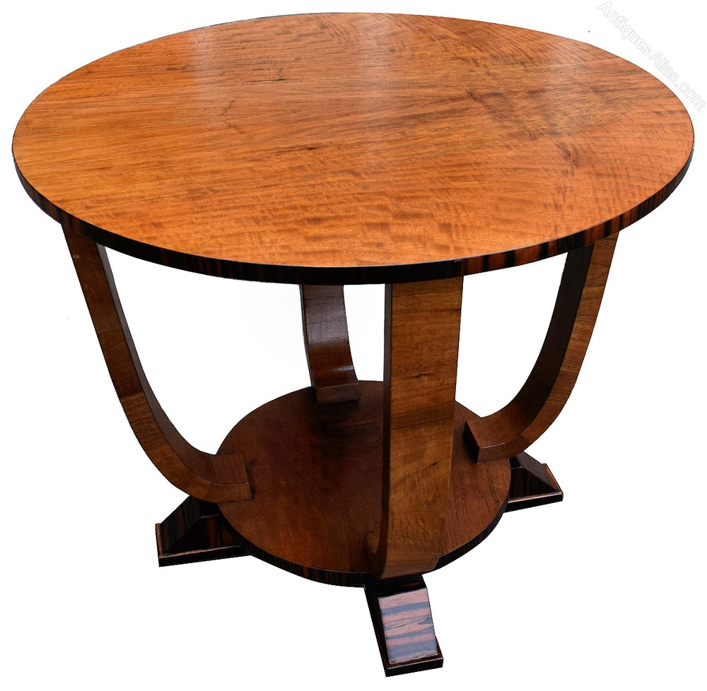 Art deco english occasional table in macassar antiques atlas for Occasional tables
