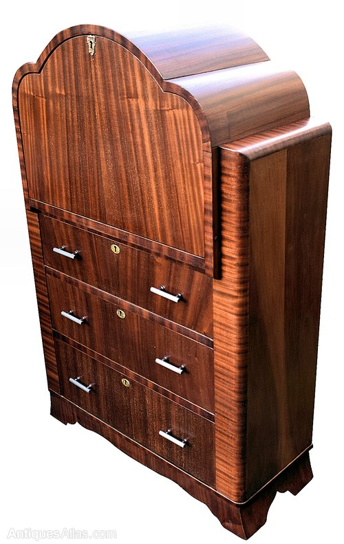 art deco mahogany cloud bureau antiques atlas. Black Bedroom Furniture Sets. Home Design Ideas
