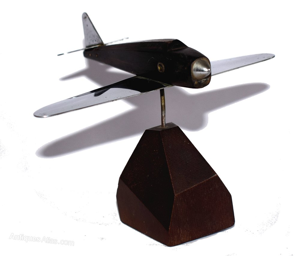 Antiques Atlas Art Deco Model Airplane Paper Weight