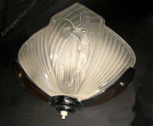 Art Deco Lady Wall Light