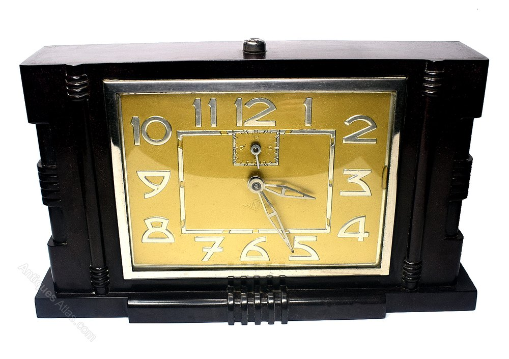 Antiques Atlas - French Art Deco Clock By Japy