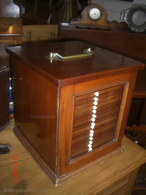 19th Century Mahogany Coin Collectors Cabinet Antiques Atlas