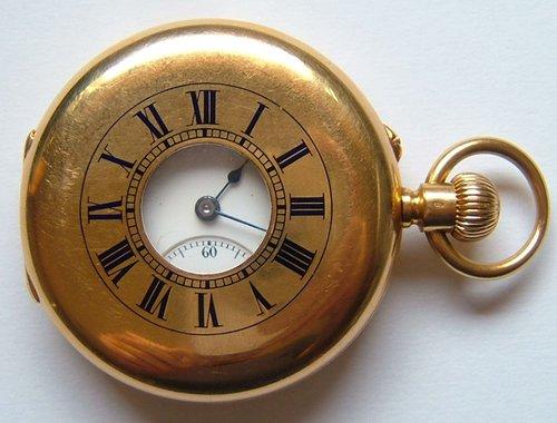 23c97d920 Antiques Atlas - 18ct Gold Gent's Half Hunter Pocket Watch