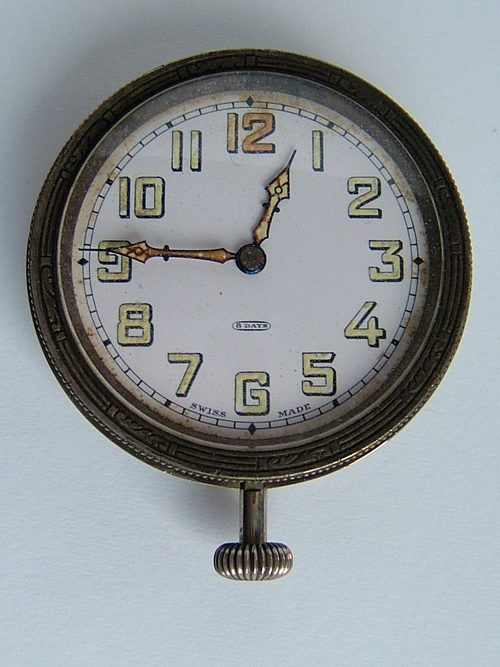 Antiques Atlas Quality 8 Day Antique Swiss Made Car Clock