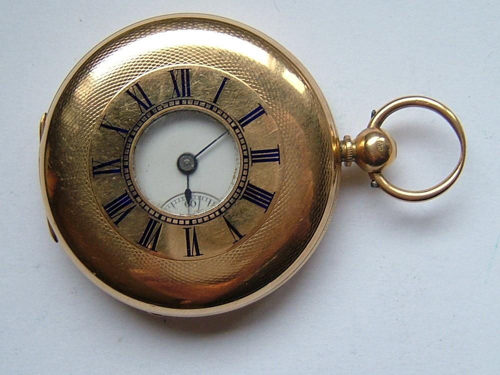 845096d45 Antiques Atlas - Victorian 18CT Gold Half Hunter Pocket Watch C1876