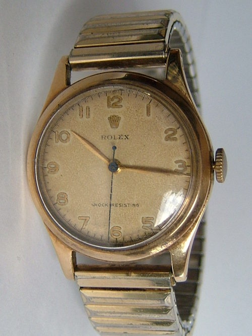 Rolex Prices Uk >> Antiques Atlas - Vintage 9CT Gold Gent's ROLEX Wristwatch