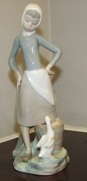 Lladro Girl with Milk Pail