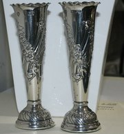 Pair of Silver Victorian Stem