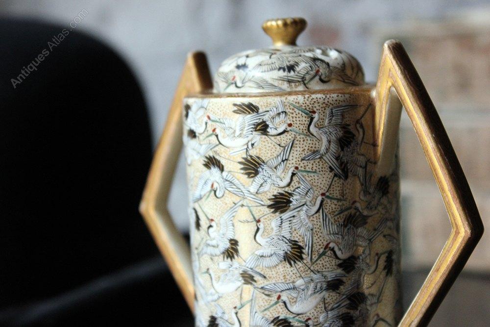 Antiques Atlas Art Deco Japanese Thousand Cranes Vase Cover