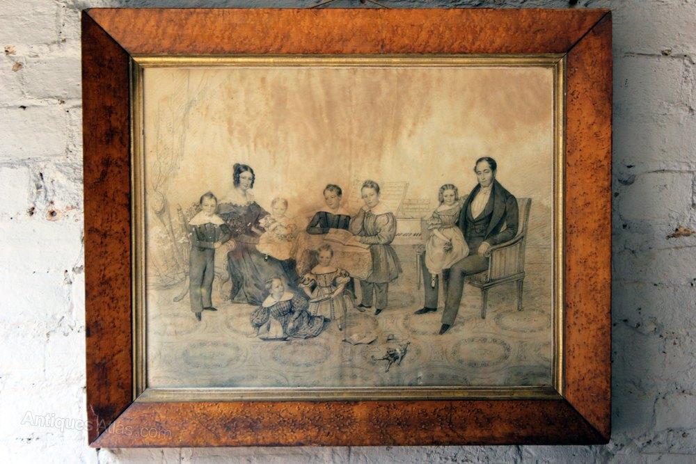 Antiques Atlas Family Of Jean De Veulle Pencil Charcoal