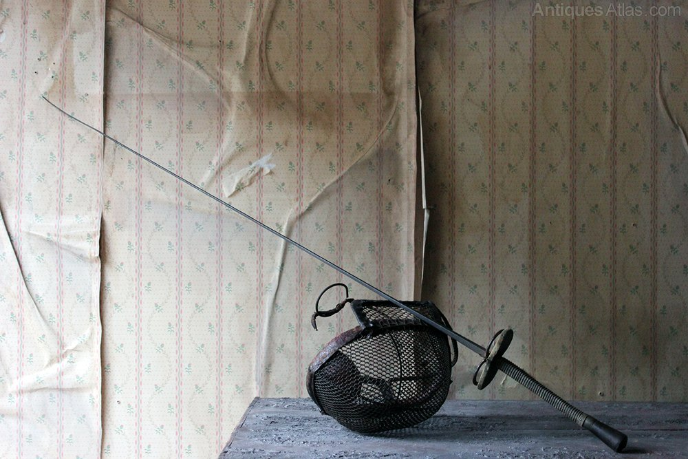 Antiques Atlas Fencing Foil Epee Sword Amp Mask C 1890 1900