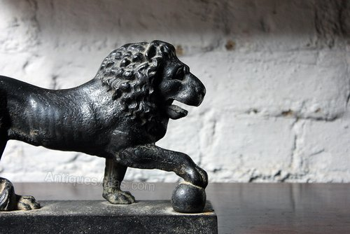 Regency Medici Lion Cast Iron Door Porter c.1820 ... & Antiques Atlas - Regency Medici Lion Cast Iron Door Porter C.1820