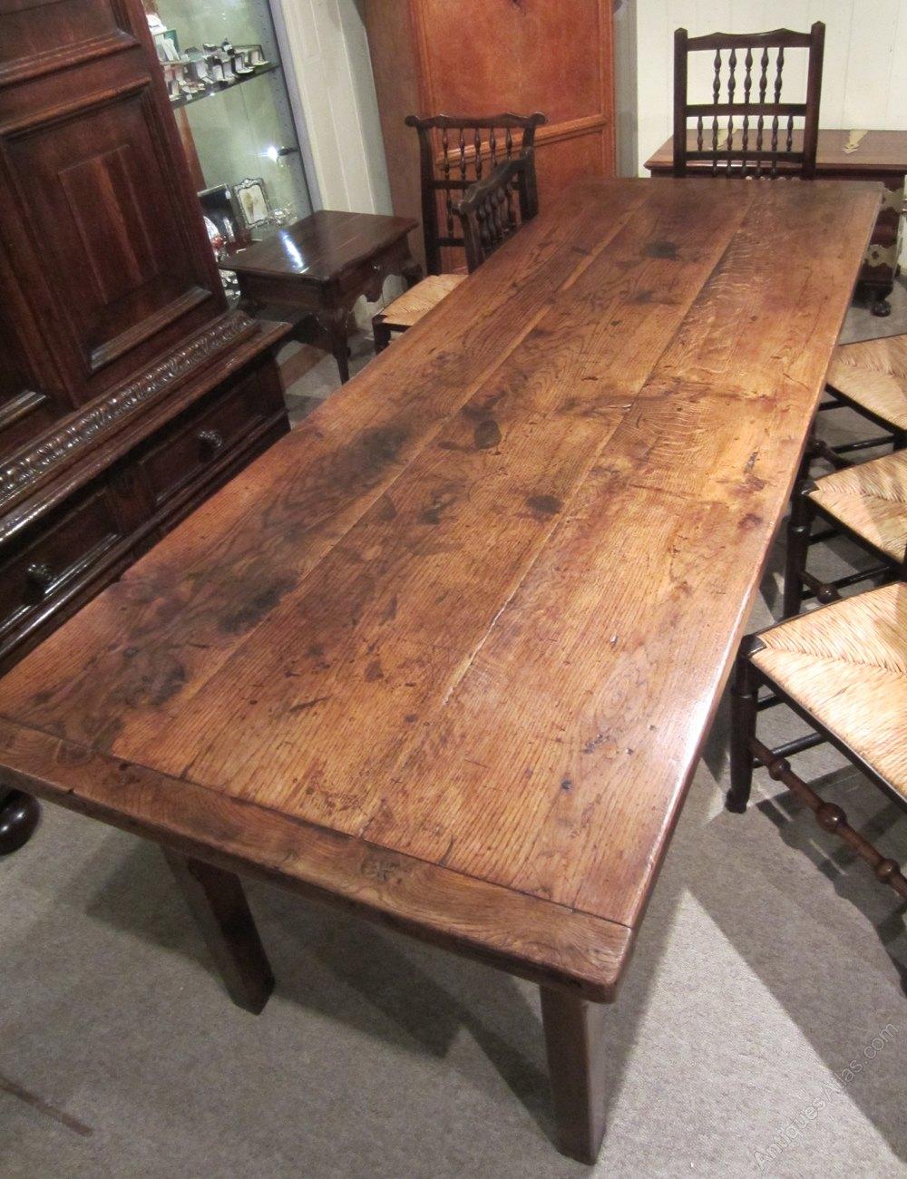 English Oak Farmhouse Table Antiques Atlas