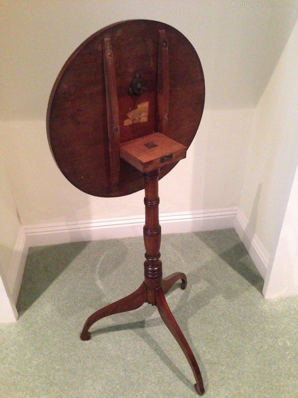 Attractive Georgian Mahogany Tilt Top Lamp Table Antique Tilt Top Tables ...