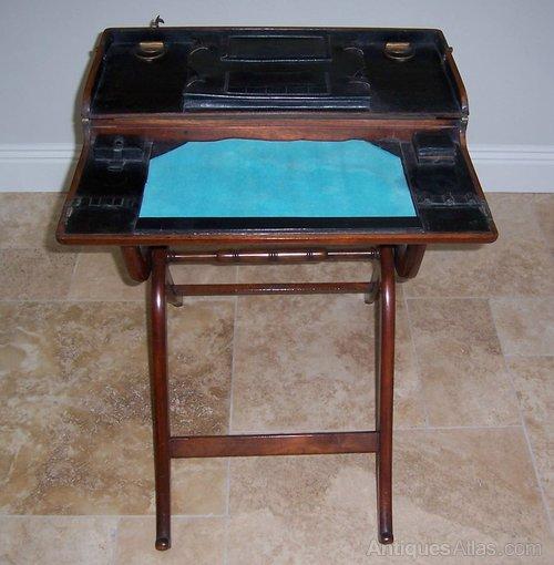 Mahogany Folding Campaign Desk Antique Desks