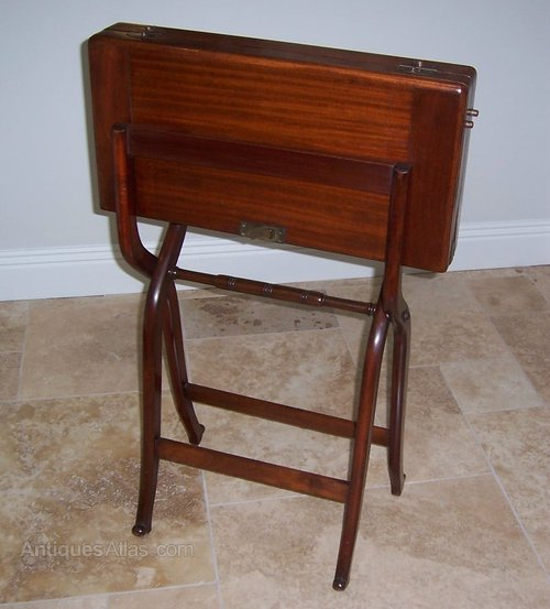 - Mahogany Folding Campaign Desk - Antiques Atlas