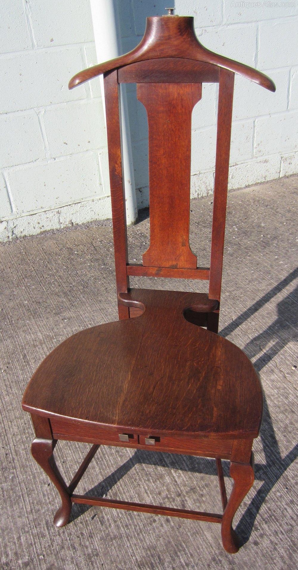 Oak Patent Valet Chair Antique ... - Oak Patent Valet Chair - Antiques Atlas