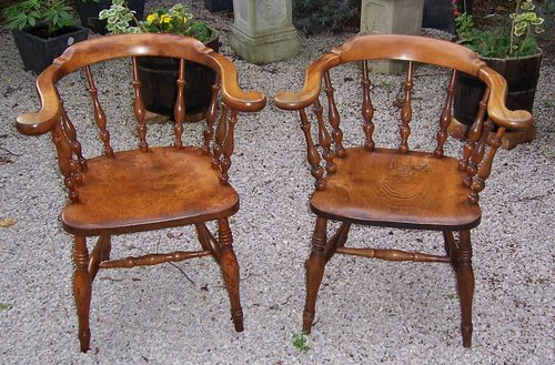 Pair Cherrywood Bow Back Chairs SOLD ...