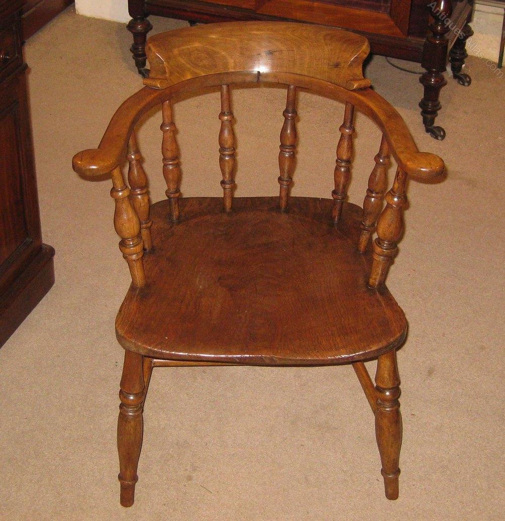 - Late Victorian Captains Chair. - Antiques Atlas