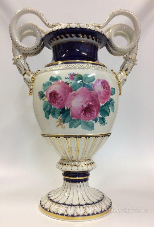 Antiques Atlas Large Porcelain Vase By Meissen H47 Cm