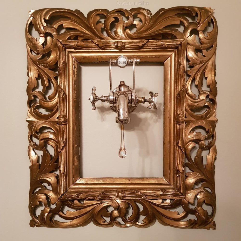 Antiques Atlas - Old Faucet Art Deco + Gilded Frame