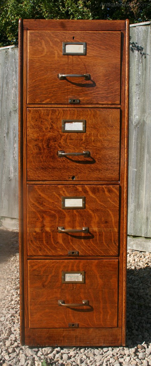 Vintage Oak Filing Cabinet Antiques Atlas