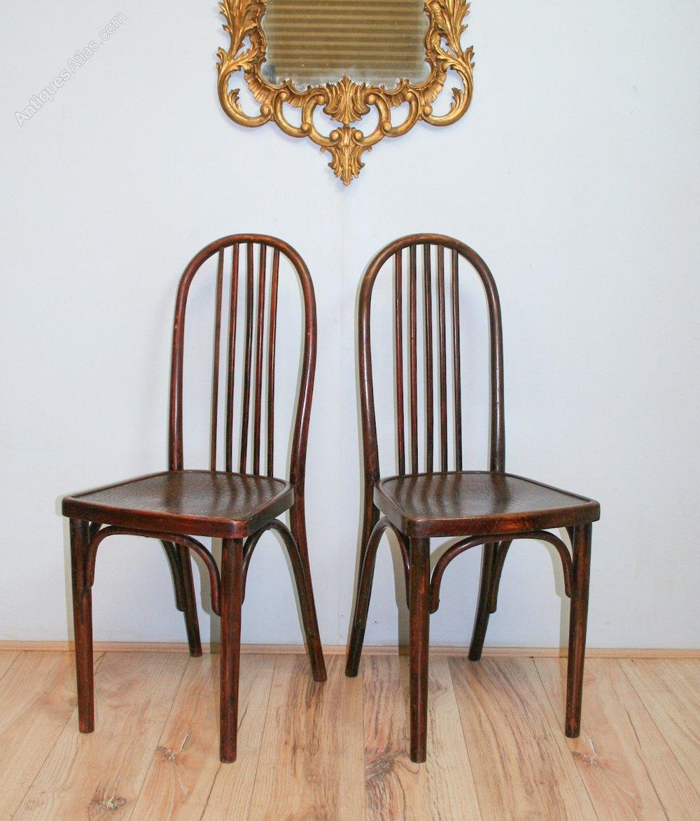 pair thonet bentwood chairs att josef hoffmann antiques atlas. Black Bedroom Furniture Sets. Home Design Ideas