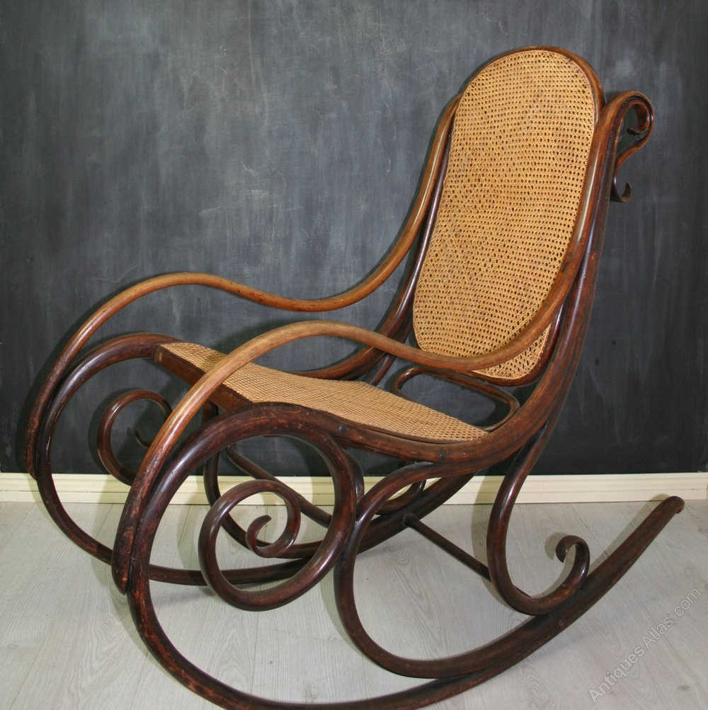 Rare Thonet Bentwood Rocking Chair No.