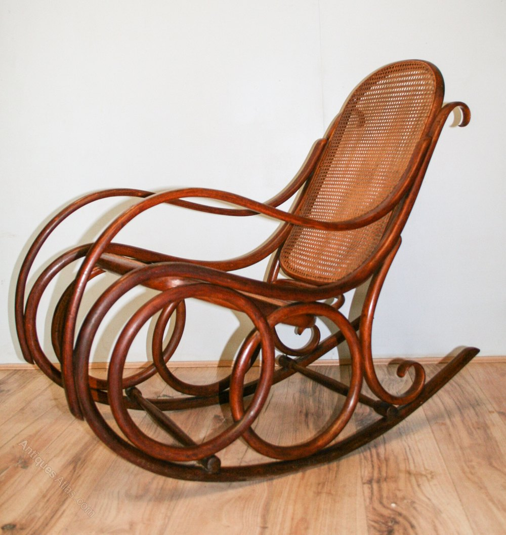 Thonet Bentwood Rocking Chair No.4 - Antiques Atlas