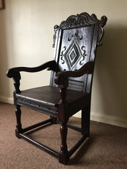 ... A 17th Century Wainscot Chair