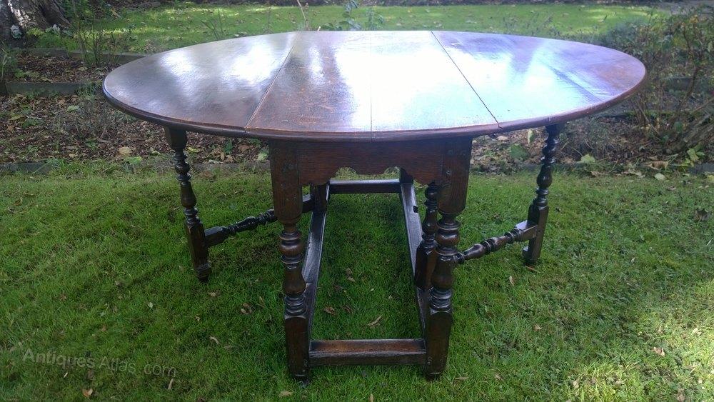 A Large Antique Oak Gate Leg Table Antiques Atlas