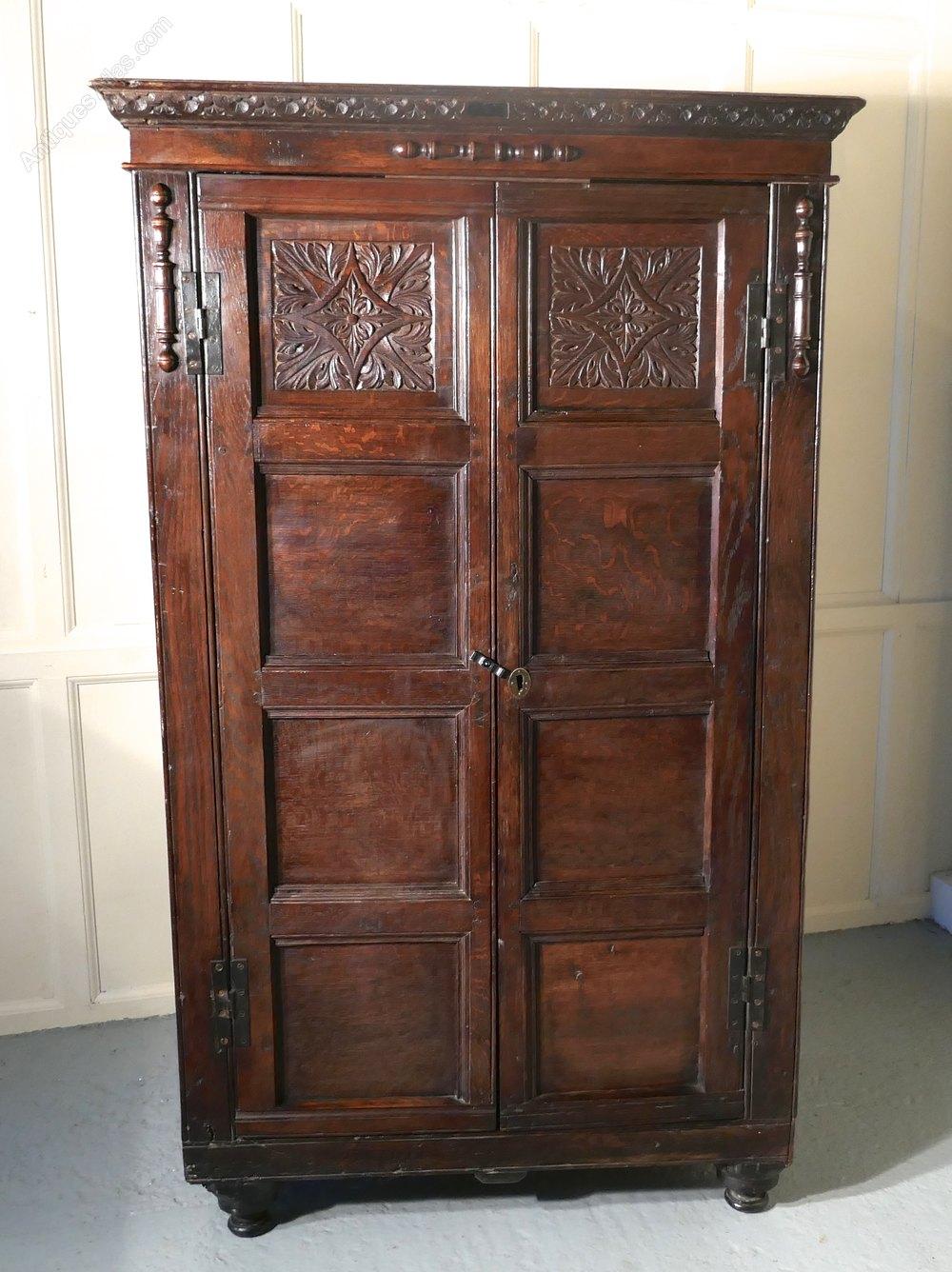 17th Century Carved Oak Cupboard Or Wardrobe Antiques Atlas
