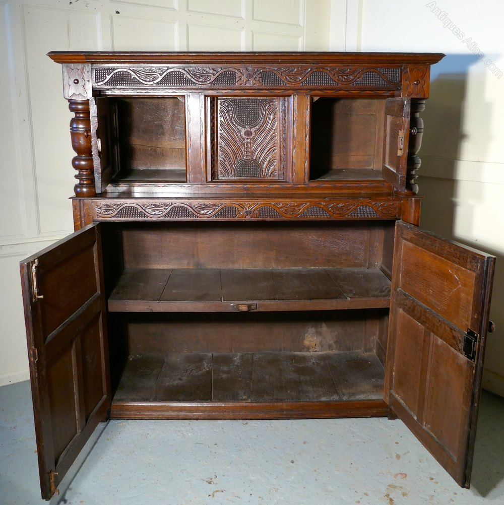 ... Antique Court Cupboards ... - 17th Century Carved Oak Court Cupboard, - Antiques Atlas