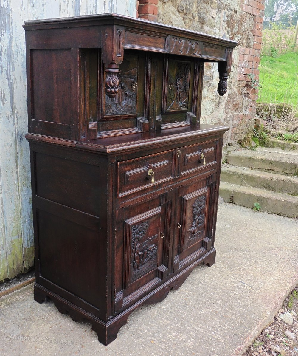 18th Century Flemish Carved Oak Court Cupboard Antique Court Cupboards - 18th Century Flemish Carved Oak Court Cupboard - Antiques Atlas