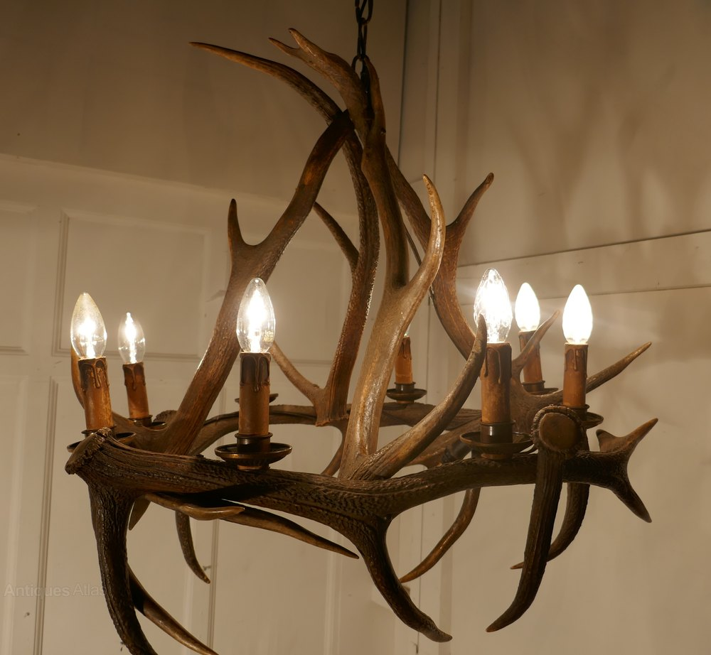 Antiques atlas 19th century black forrest stag antler chandelier 19th century black forrest stag antler chandelier aloadofball Choice Image