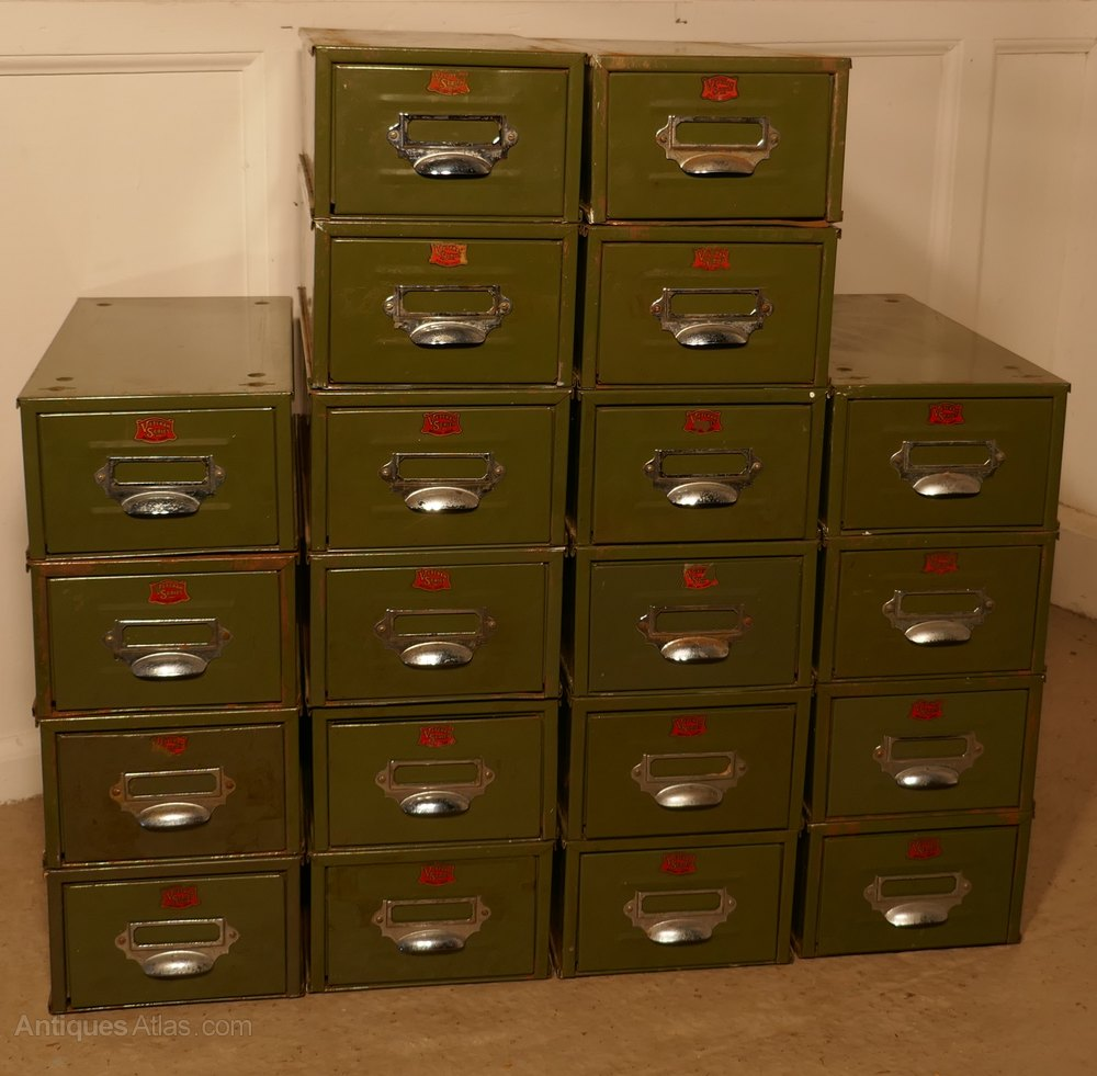 Green File Cabinet Antiques Atlas 20 Veteran Series Green Metal Filing Drawers