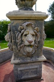 92ab767bb3fe £4950 $6219.18 €5512.32 19th Cent Gothic Stone Lions Mask Garden  FountainElmgarden · 20th Century Lions Mask Garden