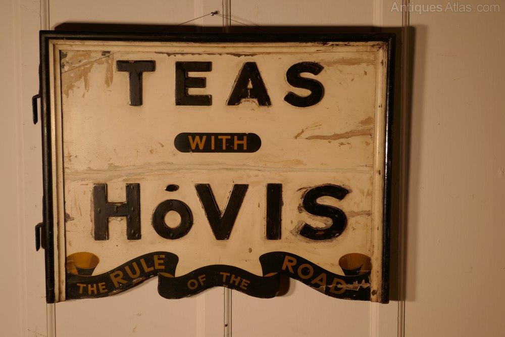Antiques atlas 3 d double sided wooden hovis tea shop sign for D sign shop