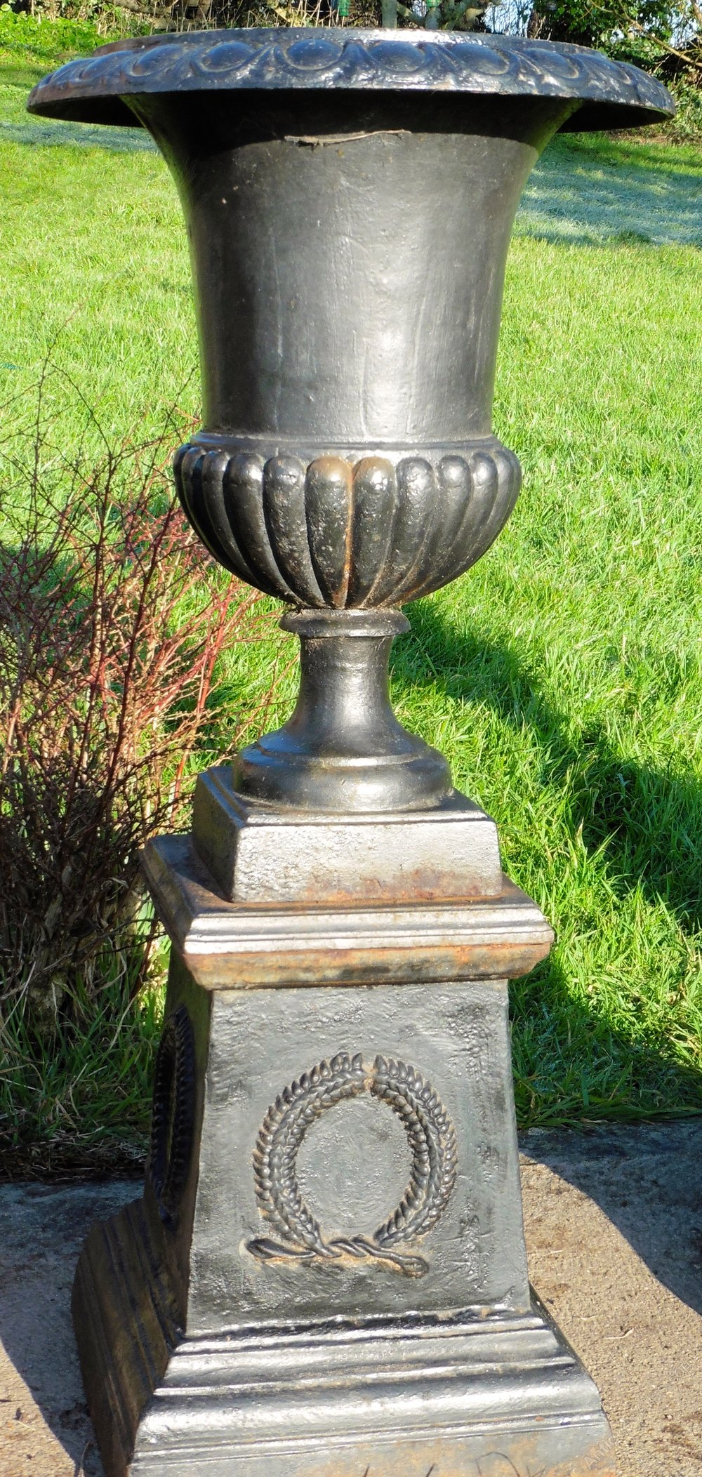 Antiques atlas 4 large victorian cast iron urns garden planters 4 large victorian cast iron urns garden planters workwithnaturefo