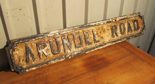 street sign furniture. ARUNDEL ROAD Victorian Street Sign Antique Signs Furniture D