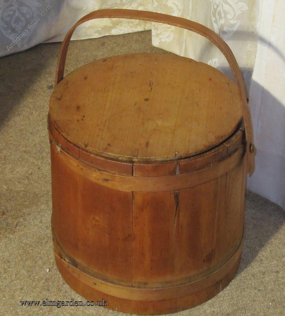 A 19th Century Pine Dairy Bucket Or Milk Pail