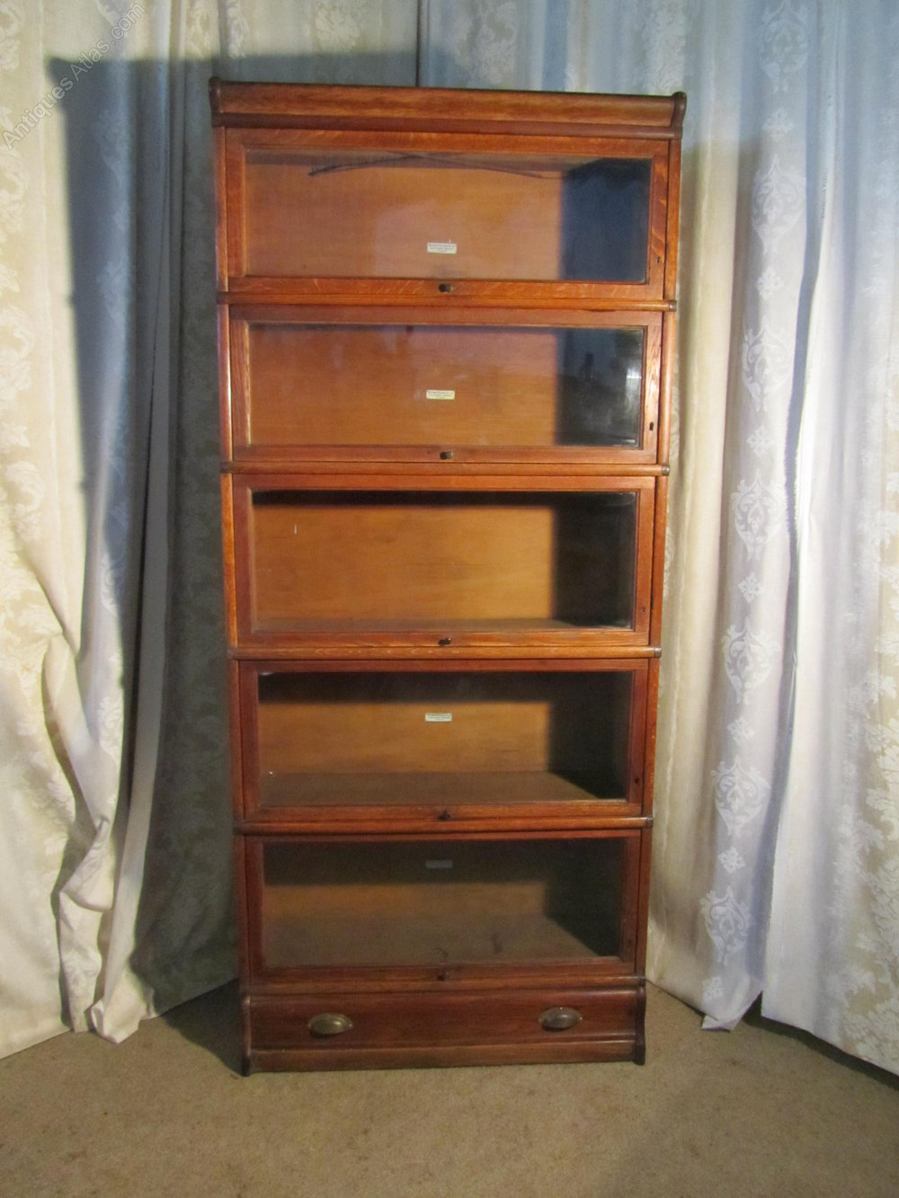 A 5 Stack Oak Globe Wernicke Barristers Bookcase Antiques