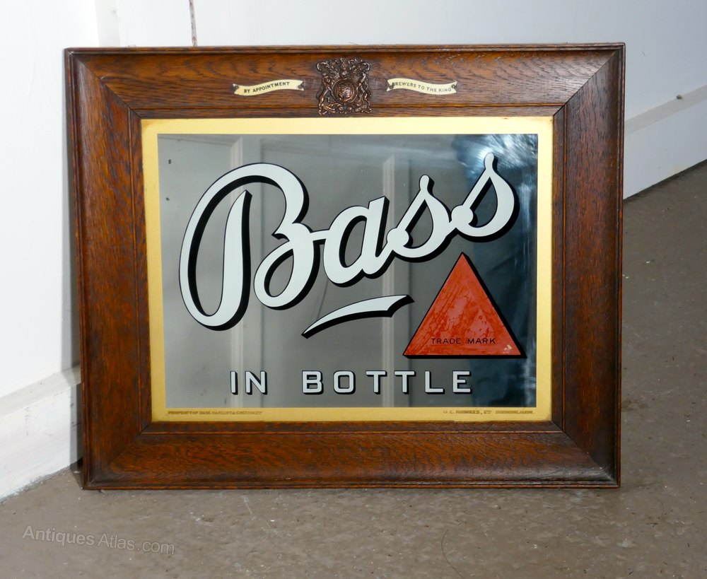 Antiques Atlas A Bass Advertising Mirror Pub Mirror