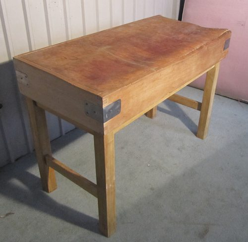 A French Vintage Butchers Chopping Block On Stand